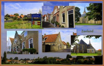 Dreischor, collage van dorpsgezichten (© Jan Dijkstra, Houten)