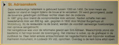 Tekst en uitleg bij de Sint Adriaanskerk in Dreischor (© Jan Dijkstra, Houten)