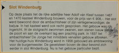 Toelichting m.b.t. het vroegere en huidige Huis Windenburg in Dreischor (© Jan Dijkstra, Houten)