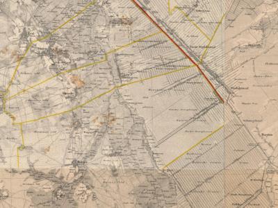 En hier zien we hoe de streek Drentse Monden er nog maar dik een eeuw geleden uitzag; eind 19e eeuw was nog lang niet alle veen afgegraven en verkaveld, nog niet alle monden waren (geheel) gegraven en de monden waren nog zeer dunbebouwd.