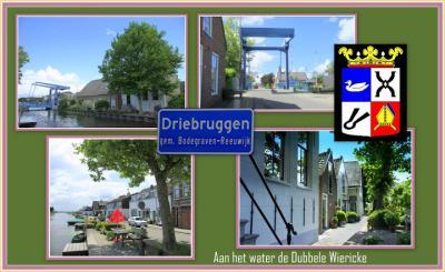 Driebruggen, collage van dorpsgezichten (© Jan Dijkstra, Houten)