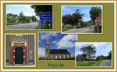 Driezum, collage van dorpsgezichten (© Jan Dijkstra, Houten)
