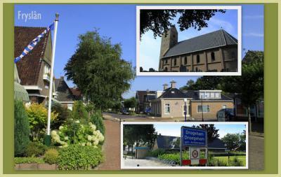 Drogeham, collage van dorpsgezichten (© Jan Dijkstra, Houten)