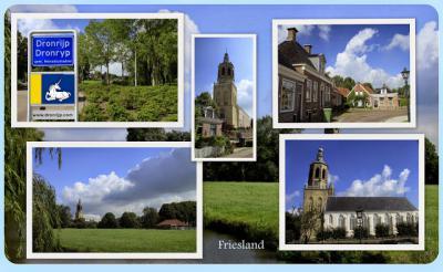 Dronryp, collage van dorpsgezichten (© Jan Dijkstra, Houten)