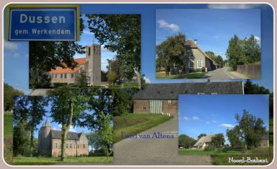 Dussen, collage van dorpsgezichten (© Jan Dijkstra, Houten)