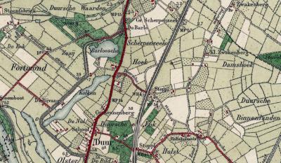 Tot begin 20e eeuw bestond de plaatsnaam Den Nul nog helemaal niet. Die kern heette Duur, en lag op de Duurse Enk, met school, en in het N de Duurse Waarden, in het O de Duurse Binnenlanden en met zelfs twee stopplaatsen aan de spoorlijn Deventer-Zwolle.