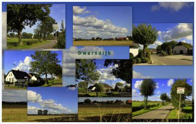 Dwarsdijk, collage van buurtschapsgezichten (© Jan Dijkstra, Houten)