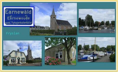 Earnewâld, collage van dorpsgezichten (© Jan Dijkstra, Houten)