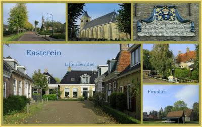 Easterein, collage van dorpsgezichten (© Jan Dijkstra, Houten)