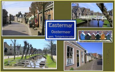 Eastermar, collage van dorpsgezichten (© Jan Dijkstra, Houten)