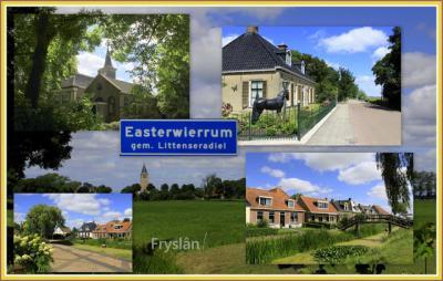 Easterwierrum, collage van dorpsgezichten (© Jan Dijkstra, Houten)