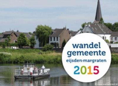 Eijsden-Margraten is verkozen tot Wandelgemeente 2015 wegens o.a. het landschap met plateaus, hellingbossen en beemden, onverharde paden, bewegwijzering, wandelapps, routecontroles, themaroutes, informatie, bereikbaarheid en voorzieningen.