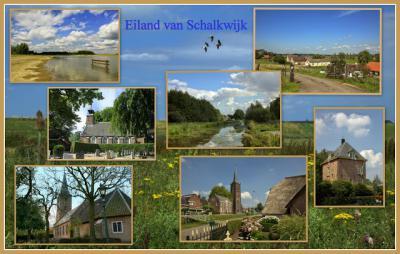 Op het Eiland van Schalkwijk valt héél veel te zien! Dat bewijst deze collage van Jan Dijkstra uit Houten én de meer dan 800(!) foto's met toelichting die hij er van gemaakt heeft. Zie de link onder het kopje Beeld en ga daar maar eens goed voor zitten.