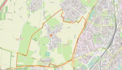 Einighausen is een compact dorp, met in het Z van het dorpsgebied nog de buurtschap Rosengarten. Het dorp grenst in het Z aan Geleen, in het O aan Sittard, in het N aan Limbricht en Guttecoven en in het W aan de gelukkig nog altijd landelijke Graetheide.