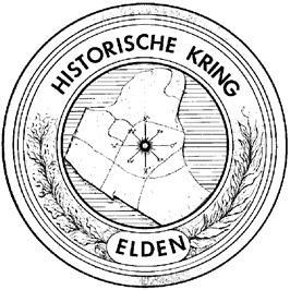 Het oorspronkelijke dorpsgebied van Elden, de Polder Elden, is veel groter dan alleen het dorp. In het logo van de Historische Kring Elden wordt dat mooi gevisualiseerd. Je kunt het ook goed zien op de oude gemeenteplattegrond hieronder.