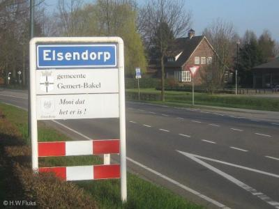 Elsendorp is genoemd naar pater Van den Elsen, die veel voor de peelontginningsdorpen heeft betekend. Aanvankelijk werd het plaatsje Van den Elsendorp genoemd. De voorvoegsels zijn er al snel gemakshalve 'vanaf gevallen'.