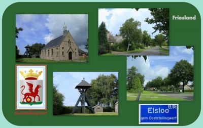 Elsloo, collage van dorpsgezichten (© Jan Dijkstra, Houten)
