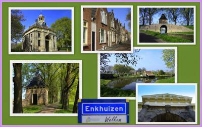 Enkhuizen, collage van stadsgezichten (© Jan Dijkstra, Houten)