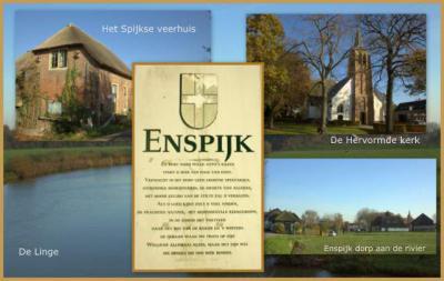 Enspijk, aan de rivier de Linge, collage dorpsgezichten (© Jan Dijkstra, Houten)