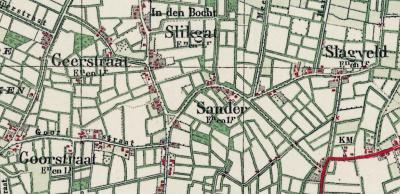 Sommige plaatsnamen verdwijnen door afbraak van de bebouwing, of doordat de bebouwing wordt opgeslokt door uitbreidende dorpen. Soms verdwijnen plaatsnamen zomaar uit de atlassen. Dat is o.a. zo bij Sander, Slagveld, Slikgat, Geerstraat en Goorstraat.