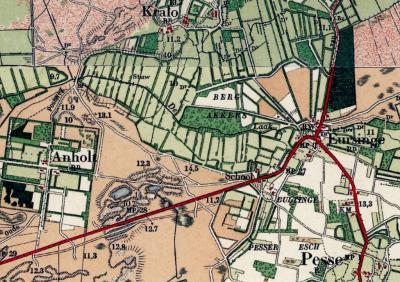 De eeuwenoude buurtschap(snaam) Bultinge wordt op kaarten van rond 1900 alleen nog als veldnaam vermeld (omdat de gemeenteaanduiding 'Rn' er niet onder staat in tegenstelling tot bijv. bij Pesse, Eursinge, Anholt en Kraloo).