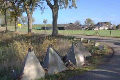 Tankversperring bij Fort Everdingen bij de sluis in de Goilberdingerdijk. (© Jan Dijkstra, Houten)