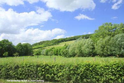 Het fraaie, groene heuvellandschap rond het dorp Eys (© Jan Dijkstra, Houten)