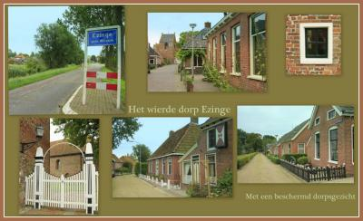 Ezinge, collage van dorpsgezichten (© Jan Dijkstra, Houten)