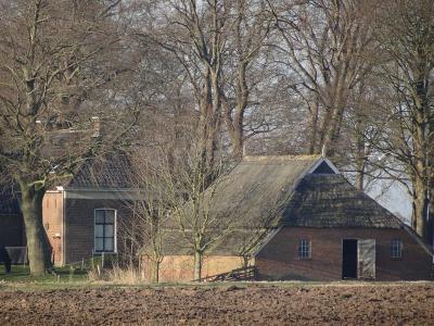 Buurtschap Faan, het vroegere schathuis - tegenwoordig boerderij - van de verdwenen borg Bijma. (© Harry Perton/https://groninganus.wordpress.com)