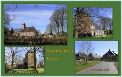 Feanwâlden, collage van dorpsgezichten (© Jan Dijkstra, Houten)