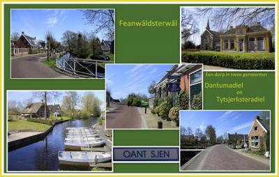 Feanwâldsterwâl, collage van dorpsgezichten (© Jan Dijkstra, Houten)
