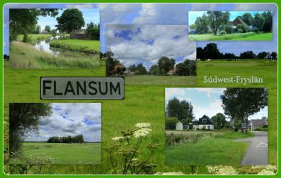 Flânsum, collage van buurtschapsgezichten (© Jan Dijkstra, Houten)