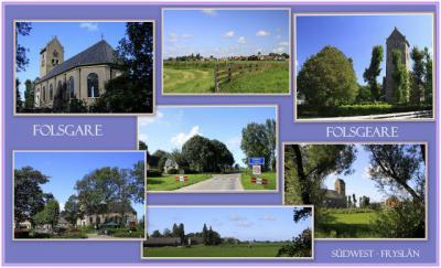 Folsgare, collage van dorpsgezichten (© Jan Dijkstra, Houten)