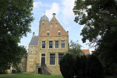 In het hart van de prachtige historische binnenstad van Franeker staat de Martenastins. Een stadskasteel gebouwd in 1506 door edelman Hessel van Martena. Hier is sinds 2006 Museum Martena gevestigd. (© Jan Dijkstra, Houten)