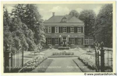 Frederiksoord Gerard Adriaan van Swieten tuinbouwschool