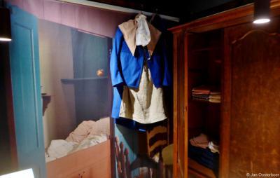 Frederiksoord, Museum De Proefkolonie, interieur van een kolonistenhuisje.