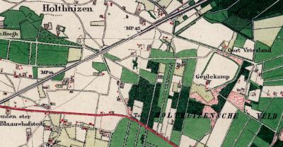 Het begint in de huidige buurtschap Friesland / 't Vriesland allemaal met de 17e-eeuwse boerderij Oost-Friesland / Oost-Vriesland op het huidige adres Frieslandweg 3.