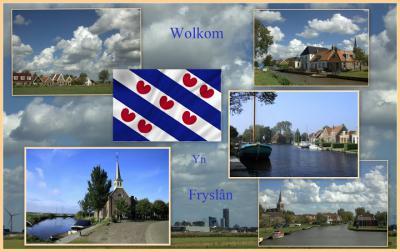 Fryslân, collage van typisch Friese, waterrijke en weilandrijke dorpjes (© Jan Dijkstra, Houten)