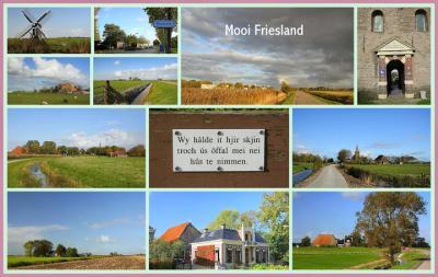 En nog maar een collage. Want Fryslân, daar krijg je nooit genoeg van: daar kun je járen achtereen op vakantie voor je alle 11 steden, 400 dorpjes en 400 buurtschappen allemaal gezien hebt... (© Jan Dijkstra, Houten)