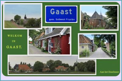 Gaast, collage van dorpsgezichten (© Jan Dijkstra, Houten)