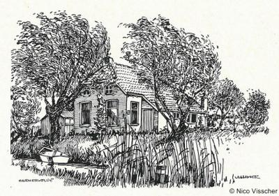 Garmerwolde, arbeidershuisje, anno 1962
