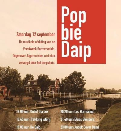 In september is het jaarlijkse feestweekend in Garmerwolde, met op zaterdag popfestival Pop bie Daip, waarbij Daip uiteraard staat voor het Damsterdiep.
