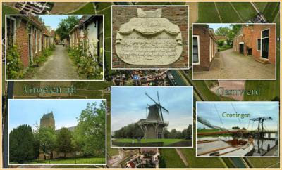 Garnwerd, collage van dorpsgezichten (© Jan Dijkstra, Houten)