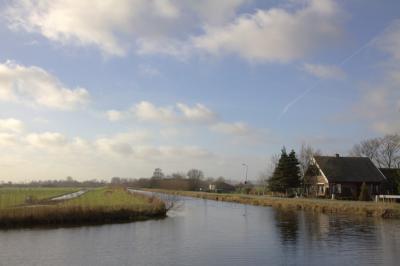 De waterlopen Bijleveld en Geer komen hier bij elkaar in de buurtschap Geer (© Jan Dijkstra, Houten)
