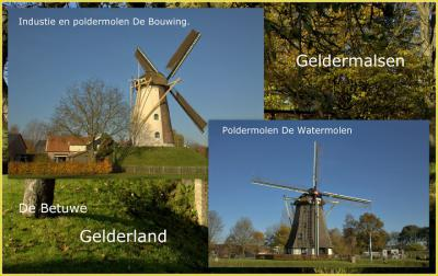 De molens van Geldermalsen (© Jan Dijkstra, Houten)