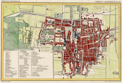Stad Den Haag anno ca. 1870, kaart J. Kuijper (© atlasenkaart.nl)