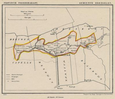 Gemeente Drongelen, Haagoort, Gansoijen en Doeveren anno ca. 1870, kaart J. Kuijper (collectie www.atlasenkaart.nl)