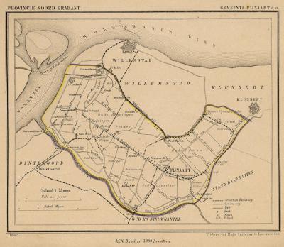 Gemeente Fijnaart en Heijningen anno ca. 1870, kaart J. Kuijper (collectie www.atlasenkaart.nl)