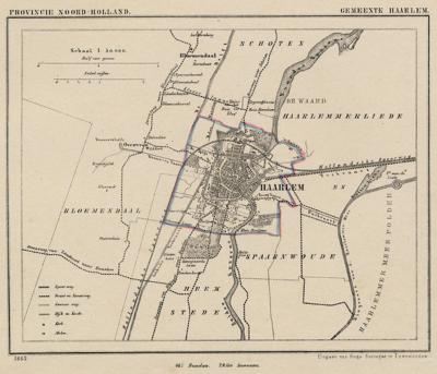 Zoals veel steden in ons land, omvatte ook de gemeente Haarlem tot eind 19e eeuw niet meer dan de oude stad, wat we nu het centrum noemen, met een smal strookje eromheen. Pas sindsdien is de gemeente in fasen vergroot met (delen van) omliggende gemeenten.