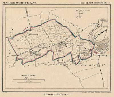 Gemeente Heesbeen, Eethen en Genderen anno ca. 1870, kaart J. Kuijper (collectie www.atlasenkaart.nl)